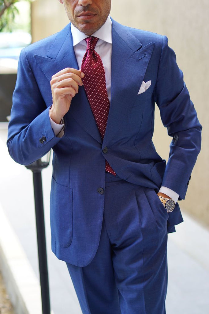 Blue Suit with Red Tie