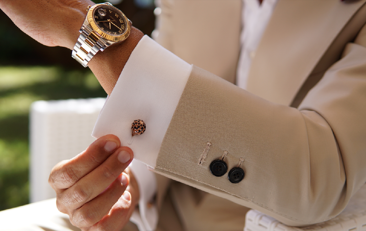 Cufflinks and shirt