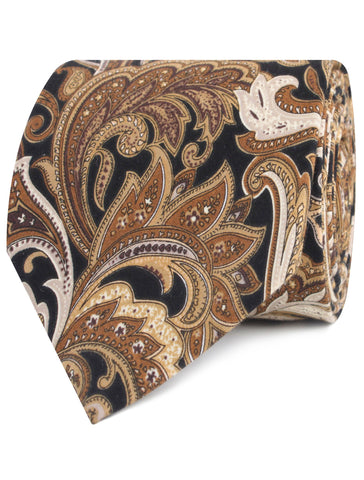 Filicudi Brown Paisley Tie