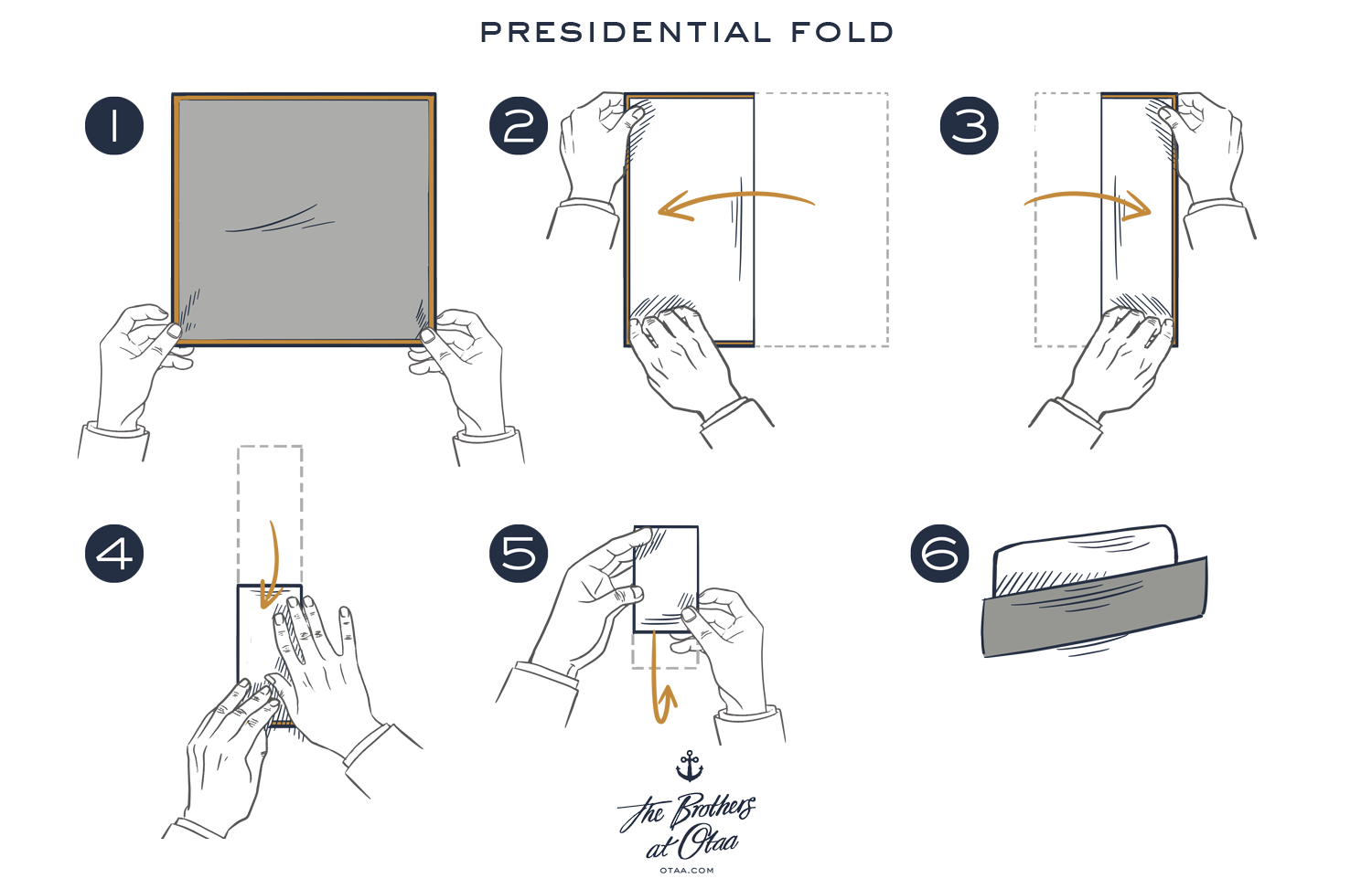 How To Fold A Presidential Fold - steps