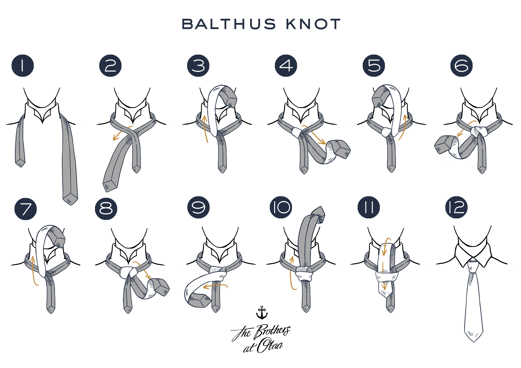 How To Tie a Balthus Knot - steps