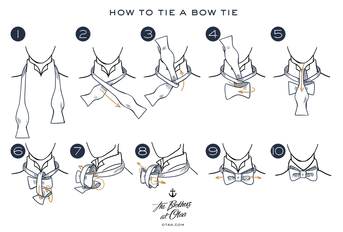How To tie a bow tie - steps