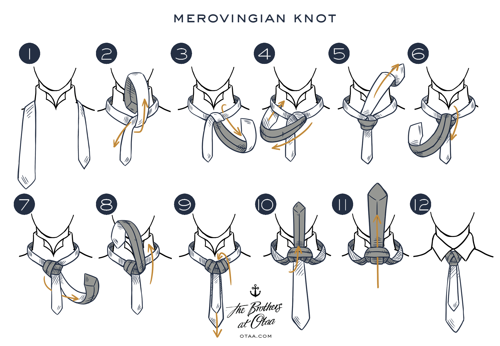 How to tie a merovingian knot - steps