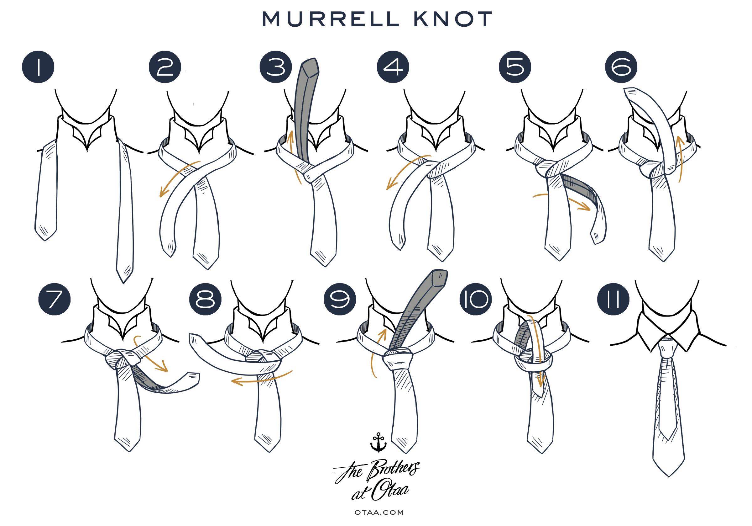 How To Tie A Murrell Knot Tutorial Learn Howtotiethebowtieknottyinginstructionspng Steps