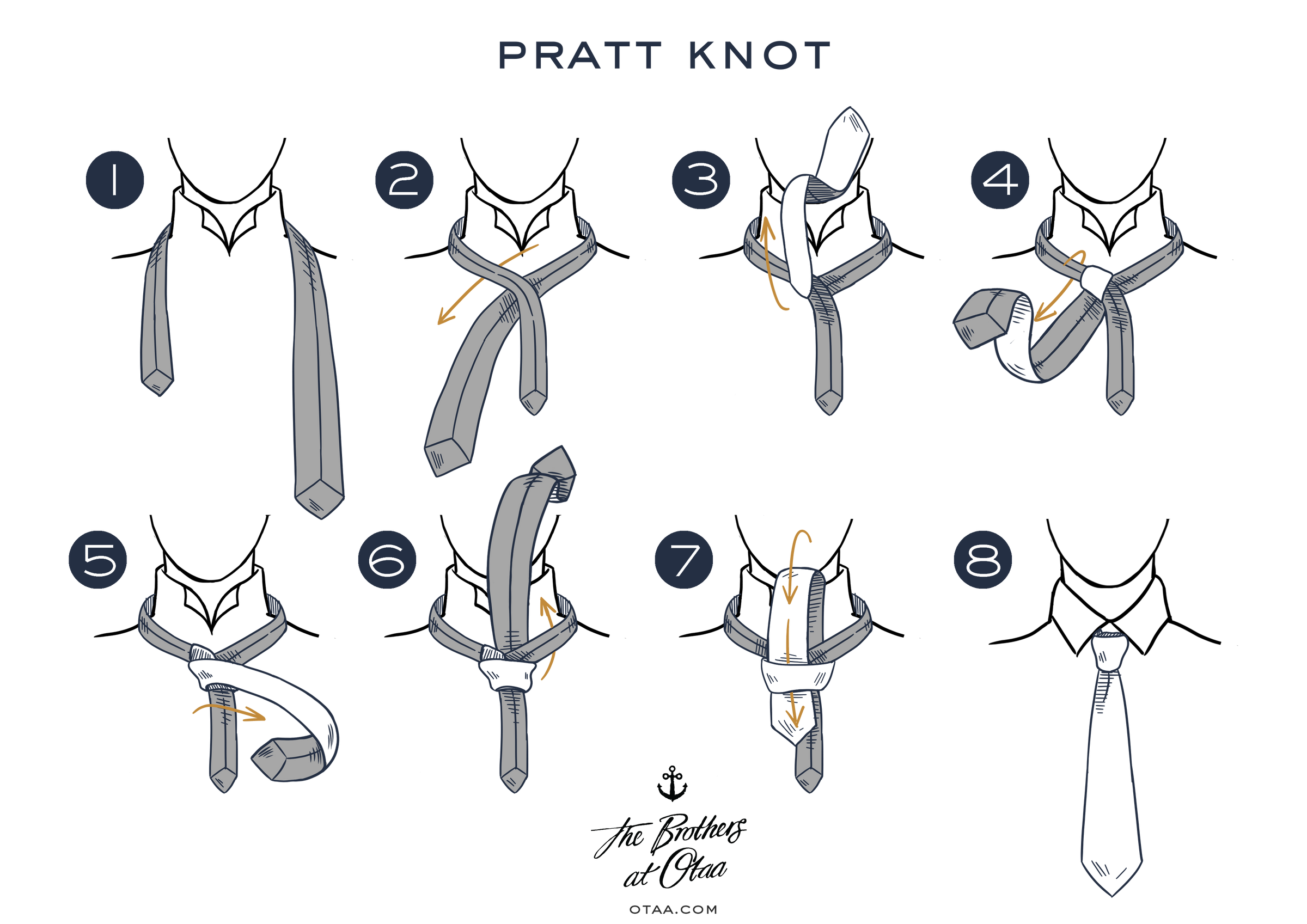 How To Tie A Pratt Knot - steps