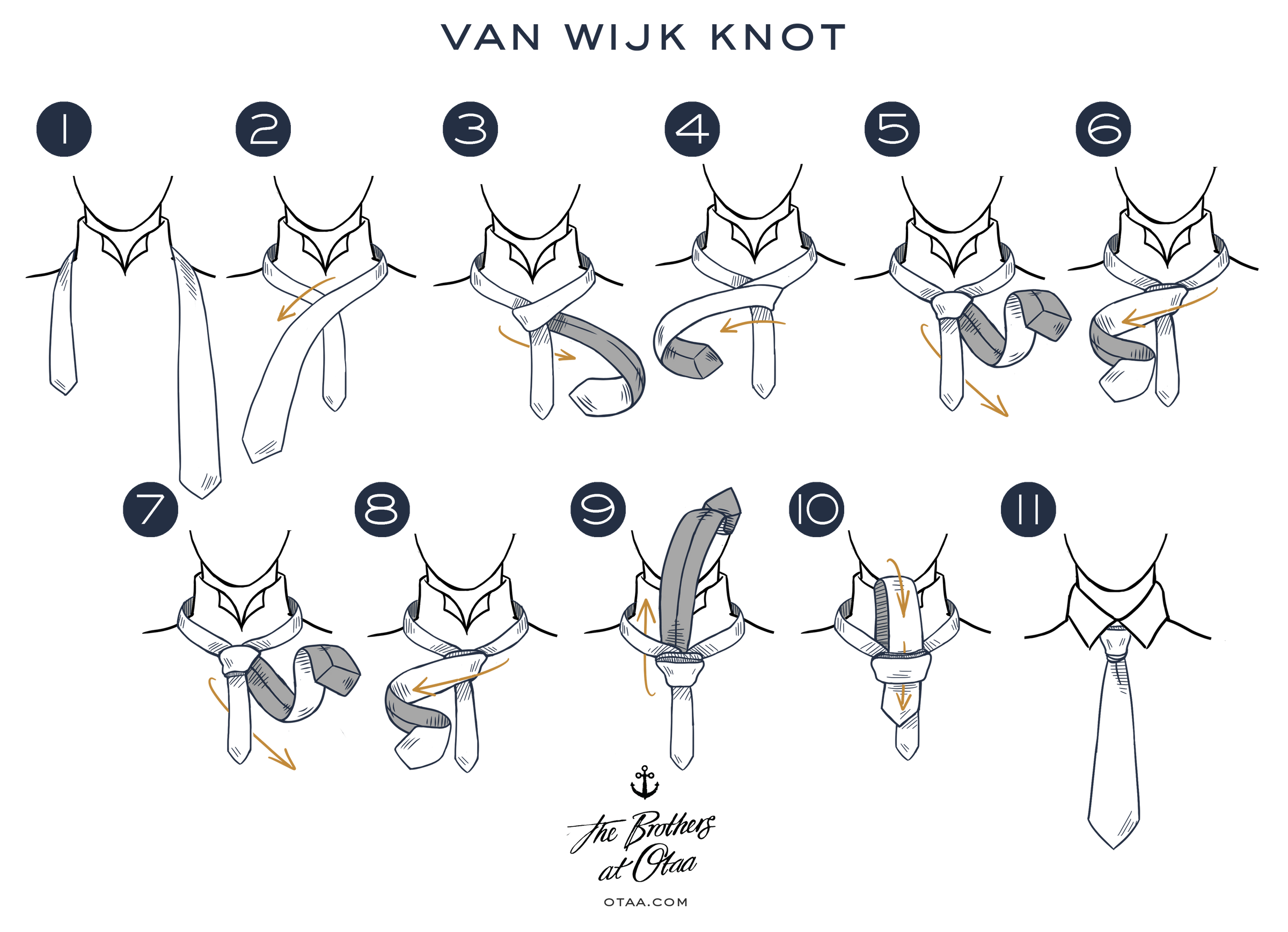 How to Tie a Van Wijk Knot - steps