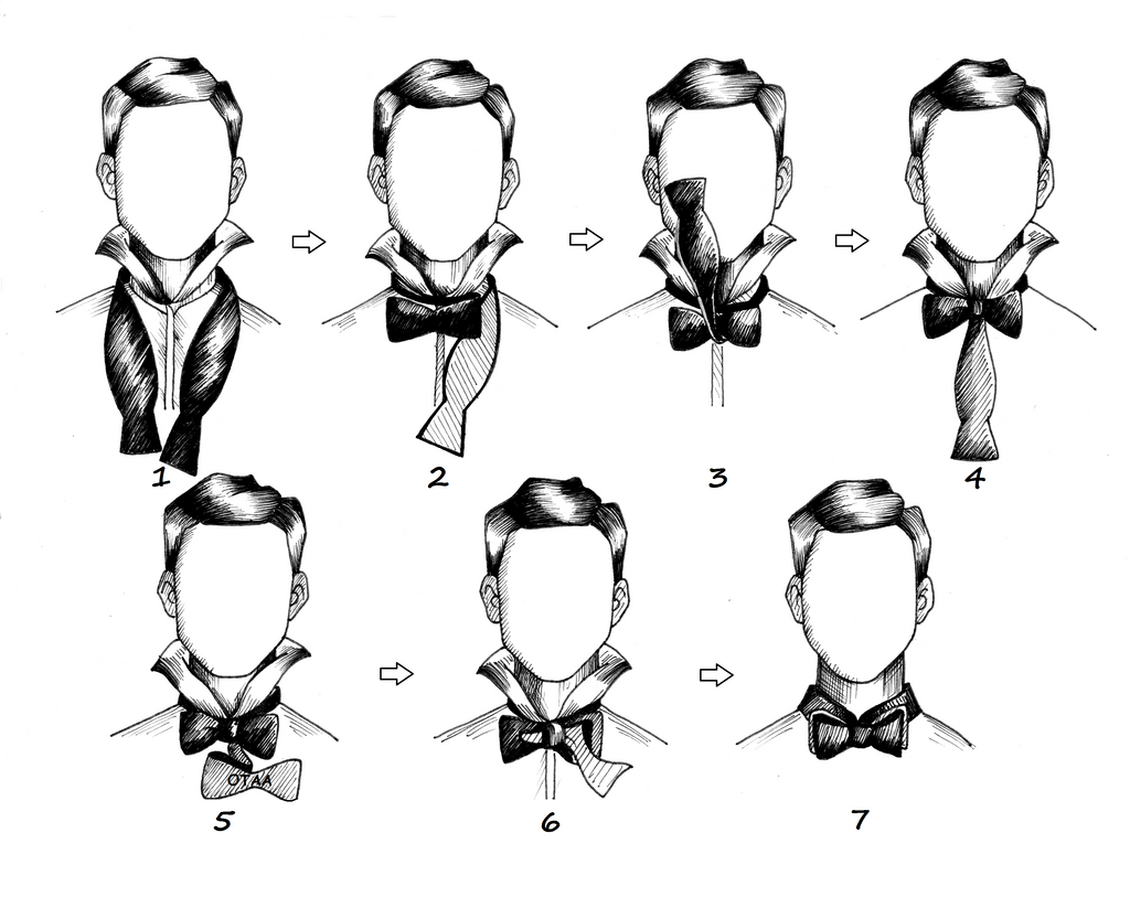 pictures How to Tie a Bow Tie