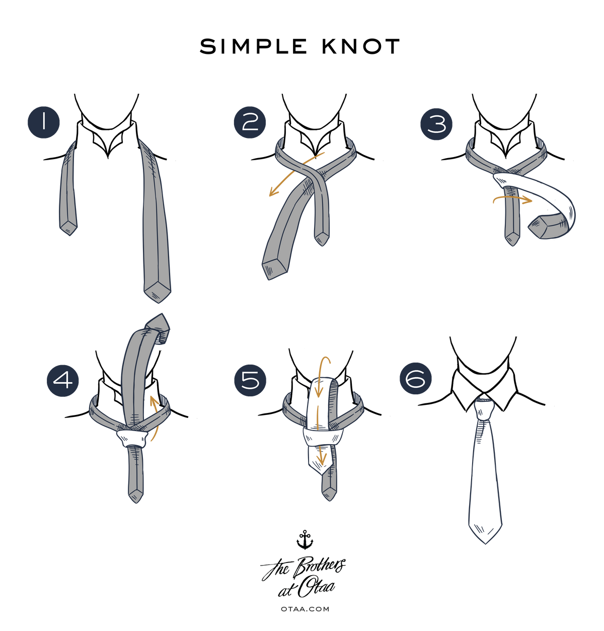 How To Tie a Simple Knot - steps