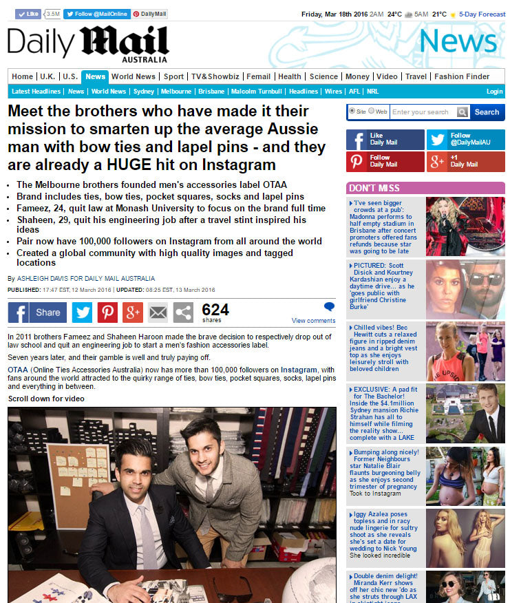 OTAA x DAILY MAIL