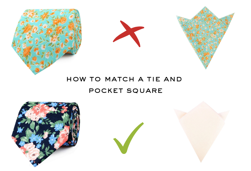 How to match a tie and pocket square