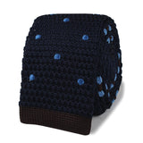 Richie Gecko Navy Blue Polkadot Knitted Tie