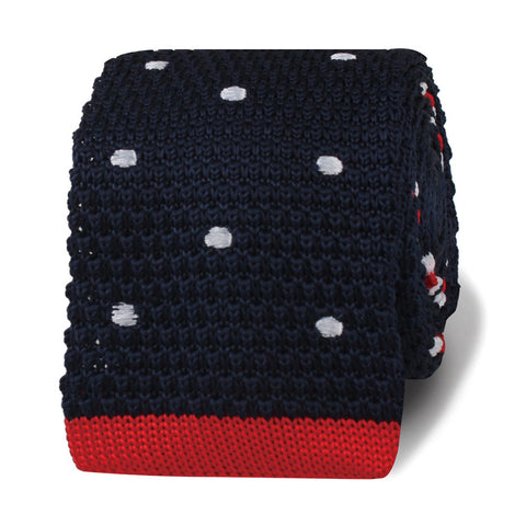 The American Polkadot Knitted Tie