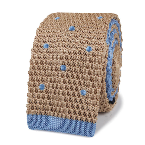 Argentinian Polkadot Knitted Tie