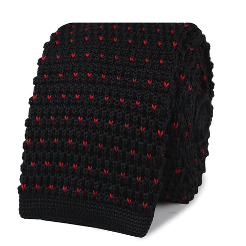 The J Malkovich Black Knitted Tie