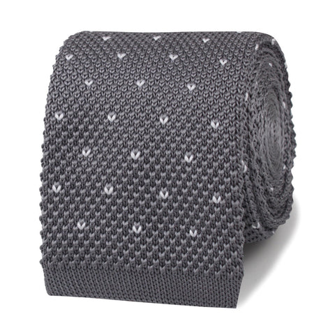 The Saverio Grey Knitted Tie