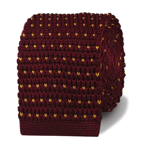 Scorsese Maroon Knitted Tie