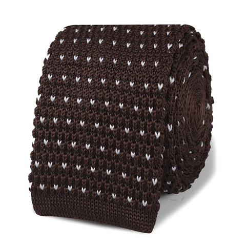 Antonio Ambrosio Brown Knitted Tie