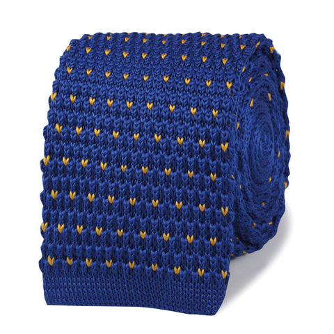 James Cameron Blue Knitted Tie