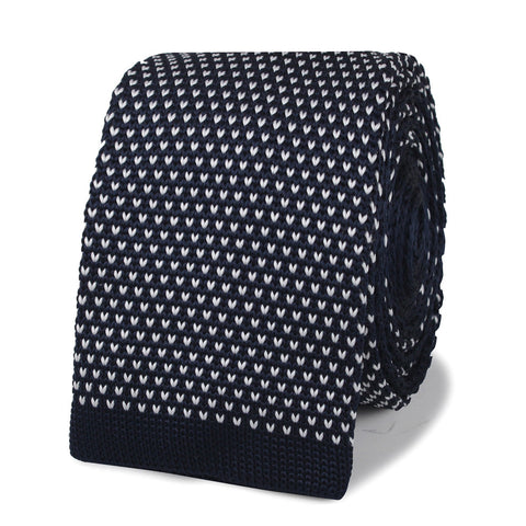 David Fincher Blue Knitted Tie