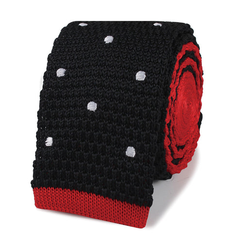 The Wesley Snipes Black Blade Knitted Tie