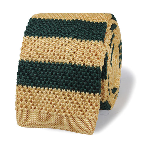 James Dean Green Knitted Tie