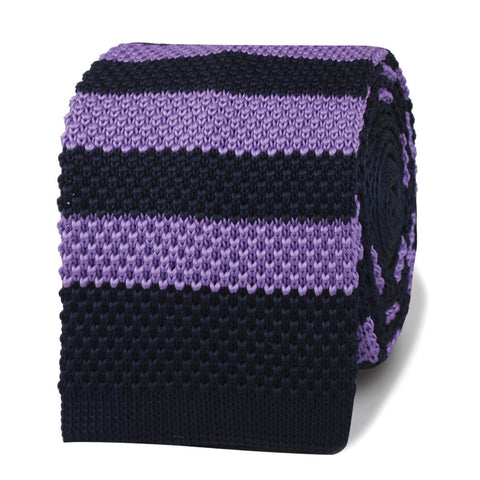 Larry David Purple Knitted Tie