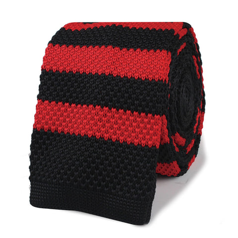 Robert Redford Black & Red Knitted Tie