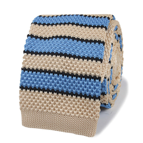Paul Cicero Blue Knitted Tie