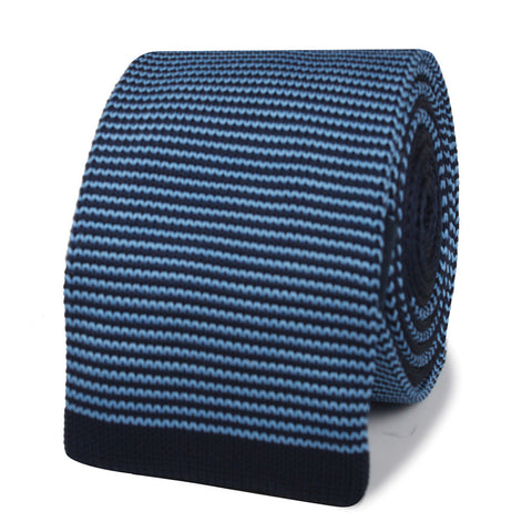 Cary Grant Blue Knitted Tie