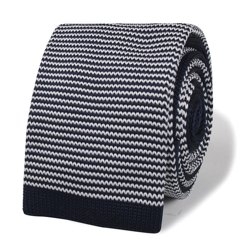 Butch Coolidge Navy Blue Pattern Knitted Tie