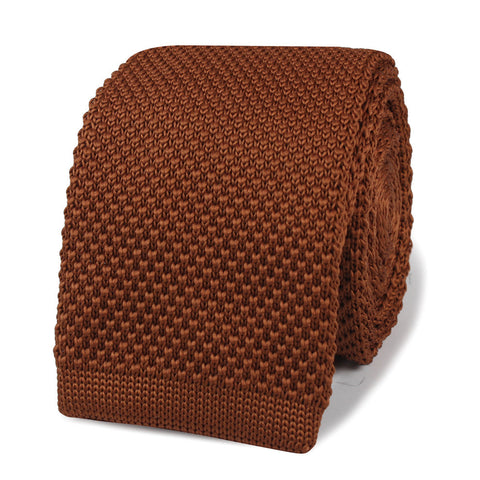 Paul Giamatti Golden Brown Knitted Tie