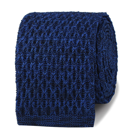 Pablo Escobar Blue Knitted Tie