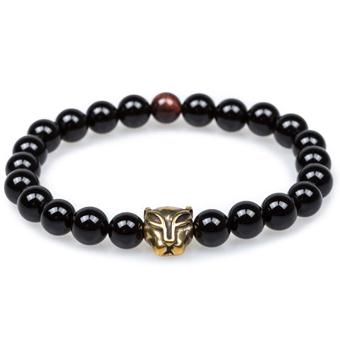 Abaft Polished Black Onyx Bracelet
