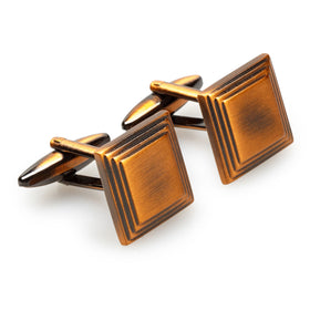Accio Antique Copper Square Cufflinks