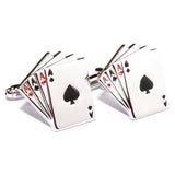 Ace of Cards Cufflinks Front OTAA