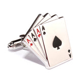 Ace of Cards Cufflinks Middle OTAA