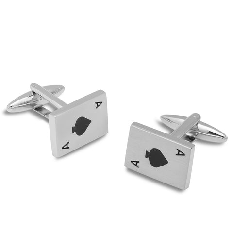 Ace of Spades Card Cufflinks