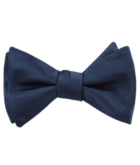 Admiral Navy Blue Satin Self Bow Tie