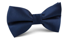 Admiral Navy Blue Satin Bow Tie