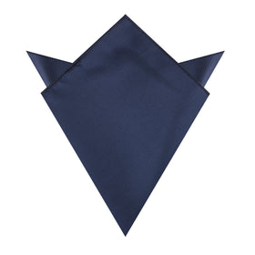 Admiral Navy Blue Twill Pocket Square