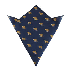 African Cheetah Pocket Square