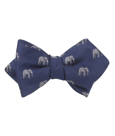 African Forest Elephant Diamond Self Bow Tie