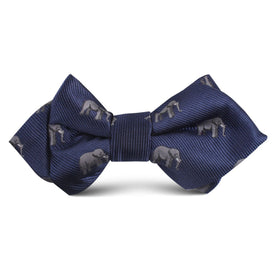 African Forest Elephant Kids Diamond Bow Tie