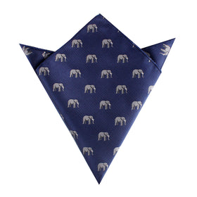 African Forest Elephant Pocket Square