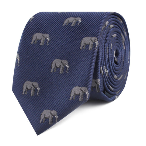 African Forest Elephant Skinny Tie