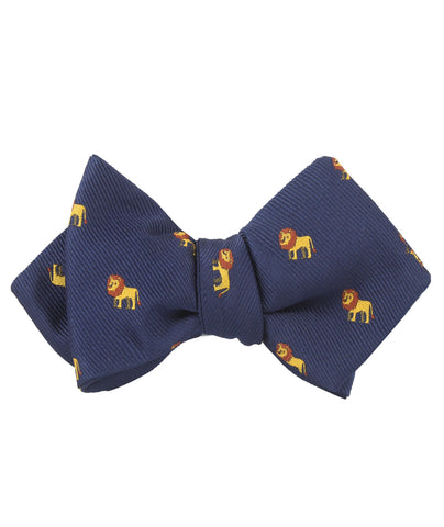 African Lion Diamond Self Bow Tie