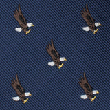 African Martial Eagle Skinny Tie Fabric