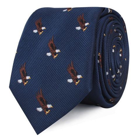 African Martial Eagle Skinny Tie