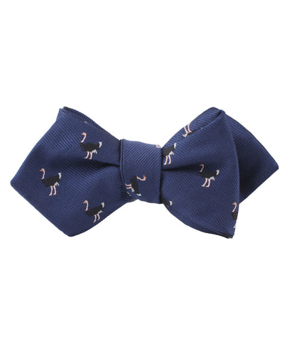 African Ostrich Diamond Self Bow Tie