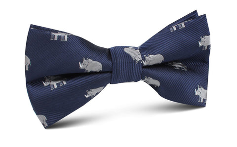 African Rhino Bow Tie